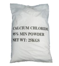 a bag of swimming pool calcium chloride