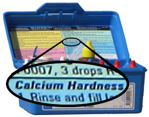 Swimming pool calcium hardness test kit